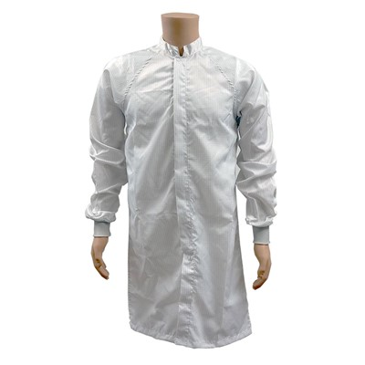 Transforming%20Technologies%20JLM%20ESD%20Cleanroom%20Frock%20w%2FESD%20Knit%20Cuffs%20-%20White