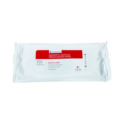 "FG Clean Wipes (Formerly Essentra Porous Technologies) 6-LS7030 - LYMSAT® Wipe - 70% IPA/30% DI Water - 9"" x 11"" - 30 Wipes/Pouch"