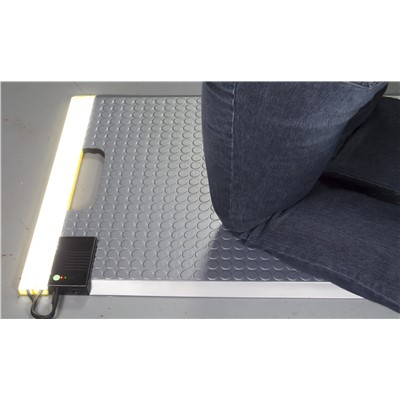 Ergomat LED-INDPortable-ST - Portable Kneeling LED Mat - Stainless