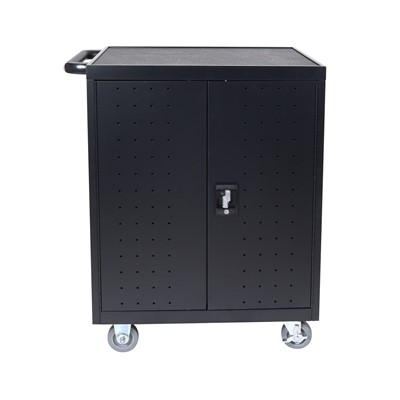 "Luxor LLTP32-B - 32 Laptop/Chromebook Charging Cart w/Timer - 28.5"" x 21"" x 38.25"""