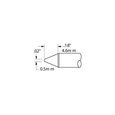 "Metcal CVC-7CN0005S - Conical Soldering Cartridge - 700° - 0.5 mm (0.02"")"