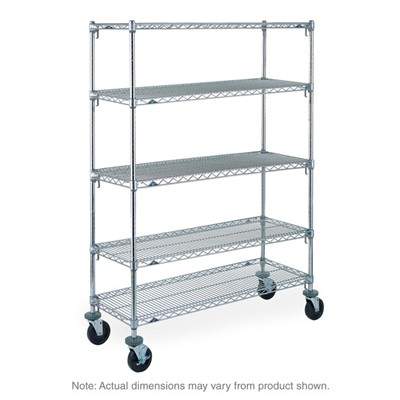 "InterMetro Industries (Metro) SA-187280C-MU-4 - Metro Super Adjustable Super Erecta Shelf Industrial Wire Shelving Stem Caster Cart - Chrome - 18"" x 72"" x 80"""