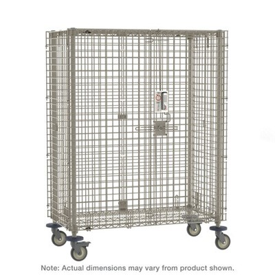 "InterMetro Industries (Metro) MQSEC53VEPL - MetroMax Mobile Security Shelving Unit w/Electronic PIN Lock - 27.8125"" x 40.75"" x 67.8125"""
