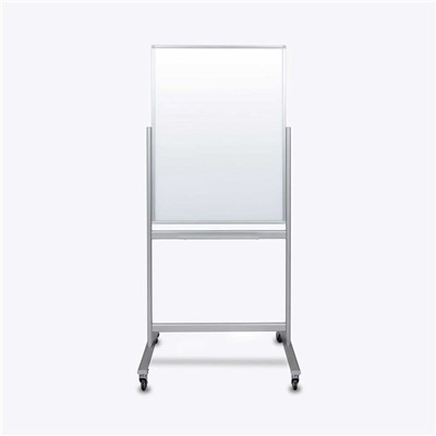 "Luxor/H Wilson MMGB3040 - Double-Sided Mobile Magnetic Glass Marker Board - 30"" W X 40"" H"