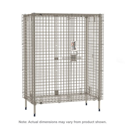 "InterMetro Industries (Metro) MQSEC53EPL - MetroMax Stationary Security Shelving Unit w/Electronic PIN Lock - 26.9375"" x 38.875"" x 66.1875"""