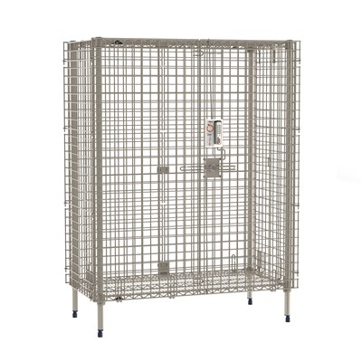 "InterMetro Industries (Metro) MQSEC55EPL - MetroMax Stationary Security Shelving Unit w/Electronic PIN Lock - 26.9375"" x 50.875"" x 66.1875"""