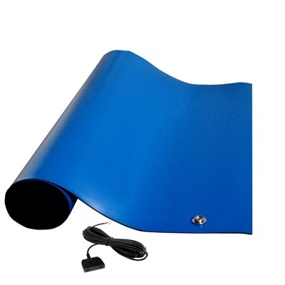 "Transforming Technologies MTT3660RB - MT4000 Series ESD Rubber Table Mat - Textured - 36"" x 60"" x 0.080"" - Royal Blue"
