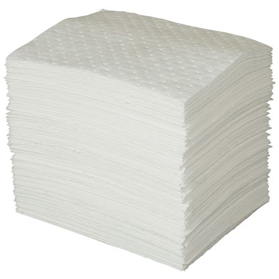 "Brady OP100 - Oil Plus Heavy Weight Absorbent Pad - Perforated - 15"" x 19"" - 100/Case"