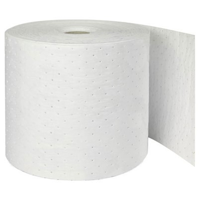 "Brady OP315P - Oil Plus Medium Weight Absorbent Roll - Perforated - 15"" x 150"
