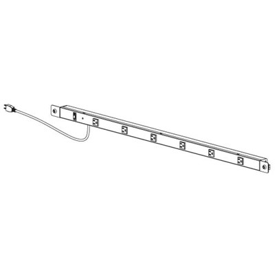 "Production Basics 8323 - Power Rail for Workbench - 15 amp - 60"" W"