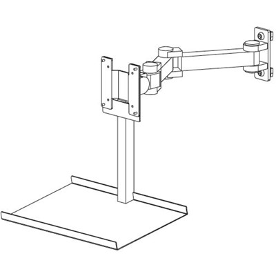 Production Basics 8633 - Add-On Keyboard Holder for Flat Screen Monitor Arm