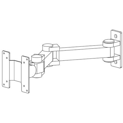 "Production Basics 8632 - Flat Screen Monitor Arm for Workbench - 17"" Extension"
