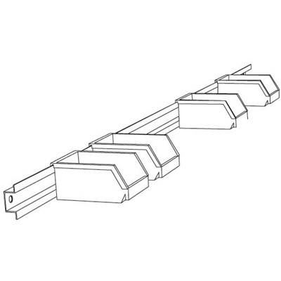 "Production Basics 8303 - Parts Bin Rail for Workbench - 60"" W"