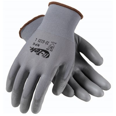 Protective Industrial Products (PIP) 33-G125 - G-Tek GP Seamless Knit Nylon Gloves w/Polyurethane Coated Smooth Grip - 12 Pairs/Pack