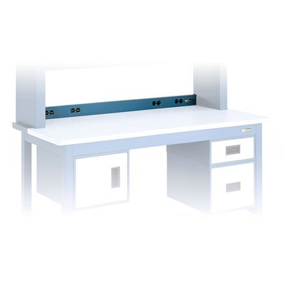 "IAC QS-1022121-D - Workmaster™/Pro Series Electrical Channel - 48"" L - Sky Blue"