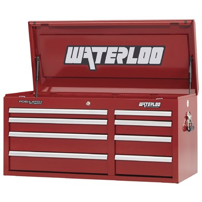 "Waterloo PCH-418RD - Waterloo Professional Series 8-Drawer Chest - 41"" x 19.75"" x 17.75"" - Red"