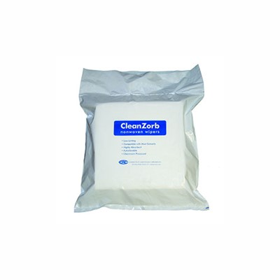 "Connecticut Clean Room CR12-150 - CCRC Cleanzorb Polycellulose Sontara Wipers - 12"" x 12"" - 12 Packs/Case"