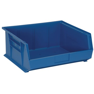 "Quantum Storage Systems QUS250-BL - Ultra Stack and Hang Bin - I.D. 14"" L x 14.75"" W x 6.75"" H - Blue - 6/Carton"