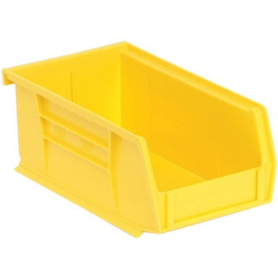 "Quantum Storage Systems QUS220-YL - Ultra Stack and Hang Bin - I.D. 6.75"" L x 3.4375"" W x 2.8125"" H - Yellow - 24/Carton"
