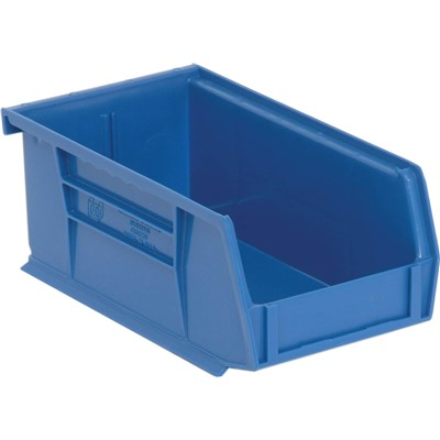 "Quantum Storage Systems QUS220-BL - Ultra Stack and Hang Bin - I.D. 6.75"" L x 3.4375"" W x 2.8125"" H - Blue - 24/Carton"