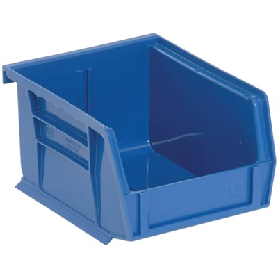 "Quantum Storage Systems QUS210-BL - Ultra Stack and Hang Bin - I.D. 4.75"" L x 3.4375"" W x 2.8125"" H - Blue - 24/Carton"