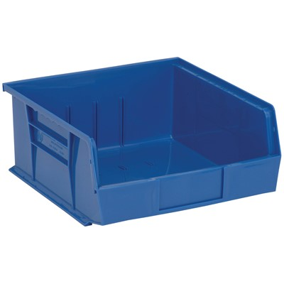 "Quantum Storage Systems QUS235-BL - Ultra Stack and Hang Bin - I.D. 10.25"" L x 10"" W x 4.75"" H - Blue - 6/Carton"