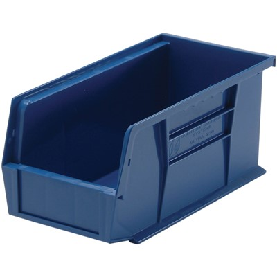 "Quantum Storage Systems QUS230-BL - Ultra Stack and Hang Bin - I.D. 10.25"" L x 4.375"" W x 4.75"" H - Blue - 12/Carton"