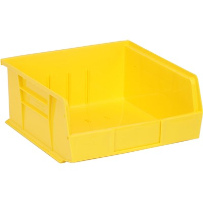 "Quantum Storage Systems QUS235-YL - Ultra Stack and Hang Bin - I.D. 10.25"" L x 10"" W x 4.75"" H - Yellow - 6/Carton"
