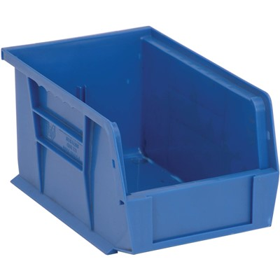 "Quantum Storage Systems QUS221-BL - Ultra Stack and Hang Bin - I.D. 8.5"" L x 5.125"" W x 4.5"" H - Blue - 12/Carton"
