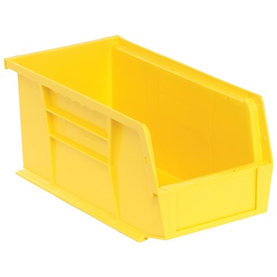 "Quantum Storage Systems QUS230-YL - Ultra Stack and Hang Bin - I.D. 10.25"" L x 4.375"" W x 4.75"" H - Yellow - 12/Carton"