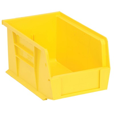 "Quantum Storage Systems QUS221-YL - Ultra Stack and Hang Bin - I.D. 8.5"" L x 5.125"" W x 4.5"" H - Yellow - 12/Carton"