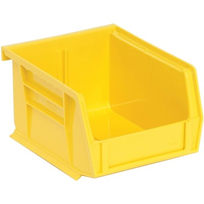 "Quantum Storage Systems QUS200-YL - Ultra Stack and Hang Bin - I.D. 4.375"" L x 3.4375"" W x 2.8125"" H - Yellow - 24/Carton"