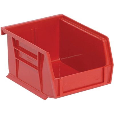 "Quantum Storage Systems QUS200-RD - Ultra Stack and Hang Bin - I.D. 4.375"" L x 3.4375"" W x 2.8125"" H - Red - 24/Carton"