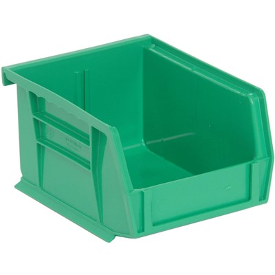 "Quantum Storage Systems QUS200-GN - Ultra Stack and Hang Bin - I.D. 4.375"" L x 3.4375"" W x 2.8125"" H - Green - 24/Carton"