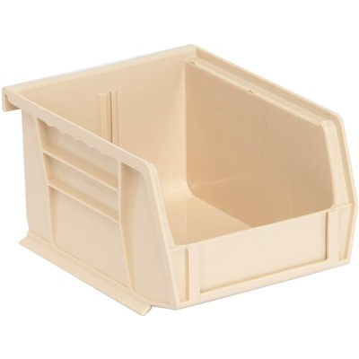 "Quantum Storage Systems QUS200-IV - Ultra Stack and Hang Bin - I.D. 4.375"" L x 3.4375"" W x 2.8125"" H - Ivory - 24/Carton"