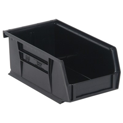 "Quantum Storage Systems QUS220-BK - Ultra Stack and Hang Bin - I.D. 6.75"" L x 3.4375"" W x 2.8125"" H - Black - 24/Carton"
