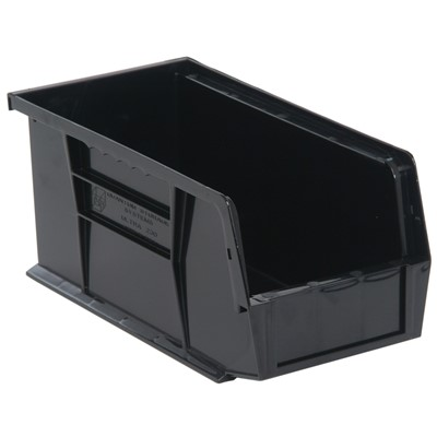 "Quantum Storage Systems QUS230-BK - Ultra Stack and Hang Bin - I.D. 10.25"" L x 4.375"" W x 4.75"" H - Black - 12/Carton"