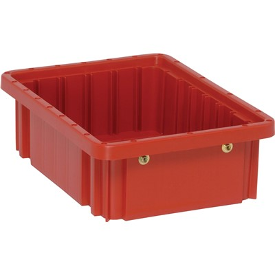"Quantum Storage Systems DG91035-RD - Dividable Grid Tote Box - I.D. 9.1875"" L x 6.5625"" W x 3"" H - Red - 20/Carton"