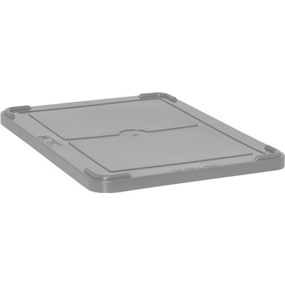 Quantum Storage Systems COV93000-GY - Snap-On Cover for Dividable Grid Tote Box DG93030/DG93060/DG93080/DG93121 - Gray - 3/Carton