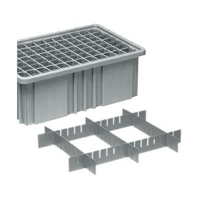 Quantum Storage Systems DS91035 - Short Divider for Dividable Grid Tote Box DG91035 - Gray - 6/Carton