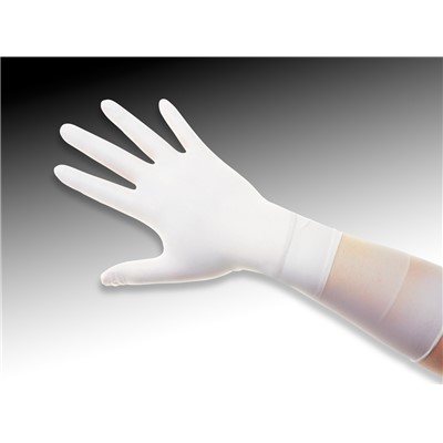"QRP Q095-L  - Qualatrile XC Nitrile Clean Room Gloves - 9"" - Large - White - 100/Pack"