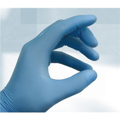 "QRP SQBF09 - ESD-Safe Qualatrile SENS! Nitrile Gloves -  3 mil - 9"" - Blue - 100/Pack"