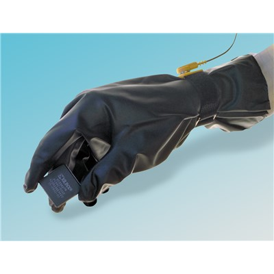 "QRP 27G - PolyTuff Urethane Conductive Clean Room Gloves - 1.5 mil - 12"" - 10 Packs/Case"