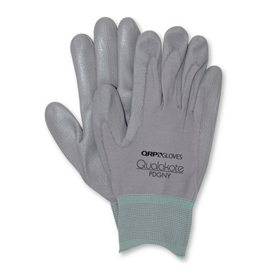 QRP PDGNY - Qualakote NY Assembly/Inspection Gloves - Gray - 12 Pair/Pack