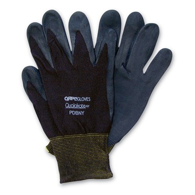 QRP PDBNY - Nitrile Dip Qualakote NY Assembly/Inspection Gloves - Black - 12 Pair/Pack