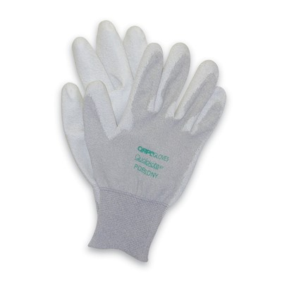 QRP PDESDNY - Polyurethane Palm Dip ESD Nylon Assembly Gloves - 12 Pair/Pack
