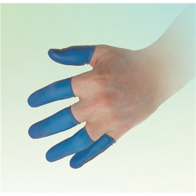 QRP BF-L - Food Handling Finger Cots - 8 mil - Large - Blue - 720/Pack