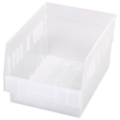 "Quantum Storage Systems QSB207CL - Clear-View Series Store-More 6"" Shelf Bin - 11.625"" x 8.375"" x 6"" - 20/Carton"
