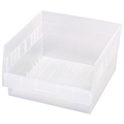 "Quantum Storage Systems QSB209CL - Clear-View Series Store-More 6"" Shelf Bin - 11.625"" x 11.125"" x 6"" - 8/Carton"