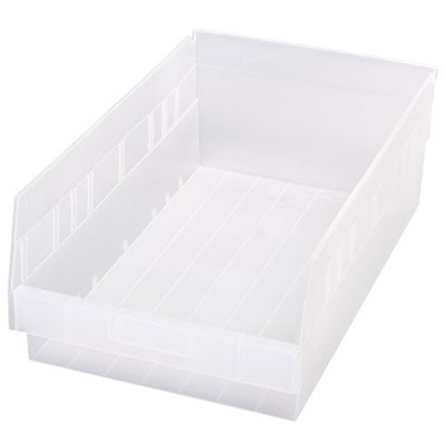 "Quantum Storage Systems QSB210CL - Clear-View Series Store-More 6"" Shelf Bin - 17.875"" x 11.125"" x 6"" - 8/Carton"